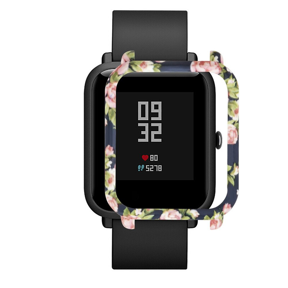 Case for Xiaomi Huami Amazfit Bip Youth Watch, Polwer PC Cover Protect Shell (D)