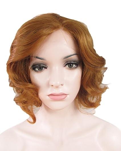 Imstyle fresa rubio color Marilyn Monroe textura Sintético Lace Front Peluca 27hr # Color brillante