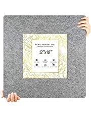 """18"""" X 12"""" Wool Pressing Mat for Quilting - New Zealand Wool Ironing Pad, Portable Plus, Ironing Station"""