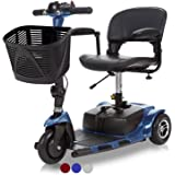 Vive 3-Wheel Mobility Scooter - Electric Powered Mobile Wheelchair Device for Adults - Folding, Collapsible and Compact for T
