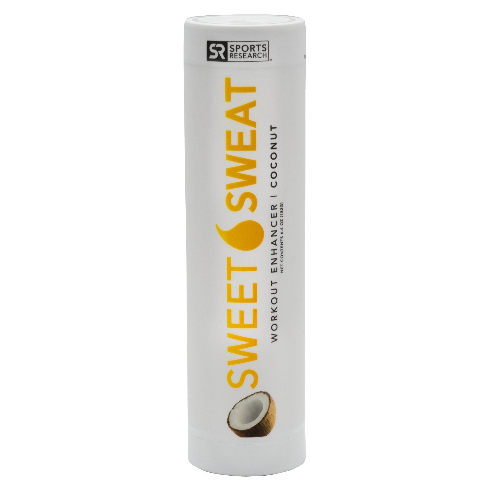 NEW: Sweet Sweat Coconut Stick - 6.4oz   Helps increase circulation, sweating and motivation during exercise   Made in the USA