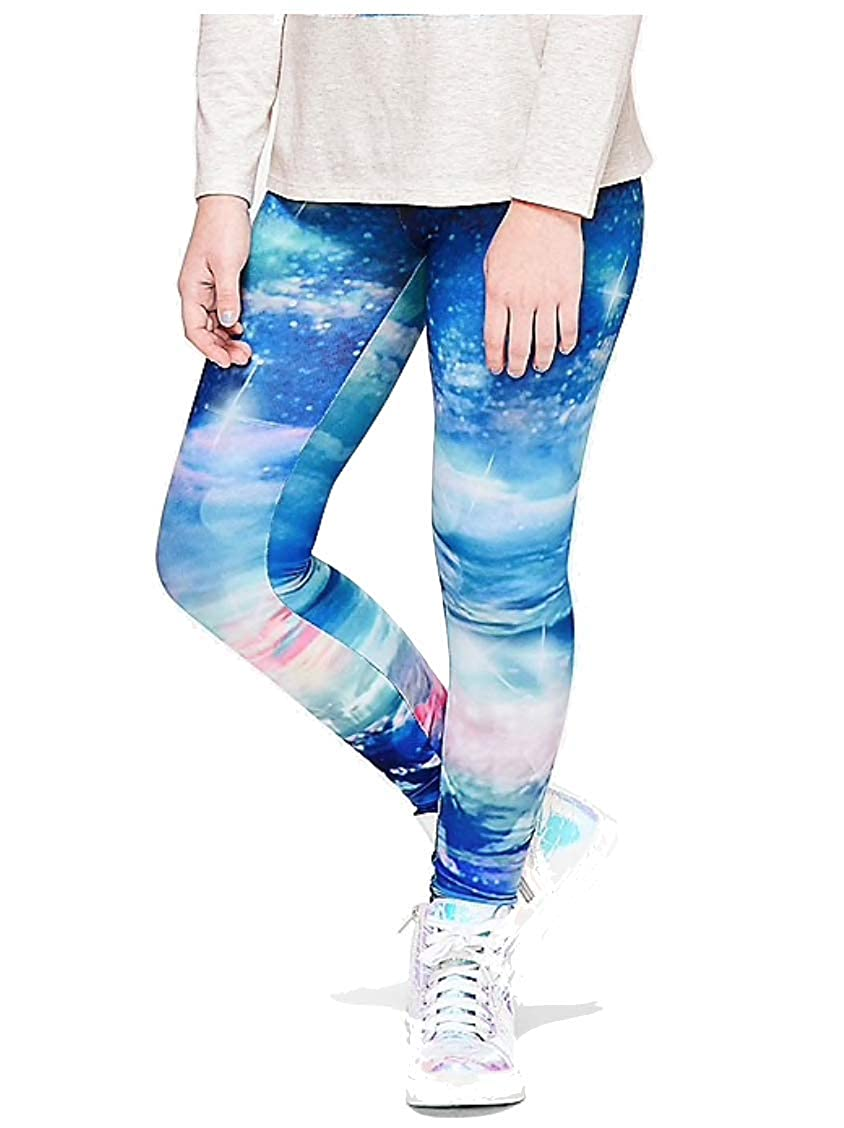 Justice Full Length Cozy Photoreal Leggings Blue French