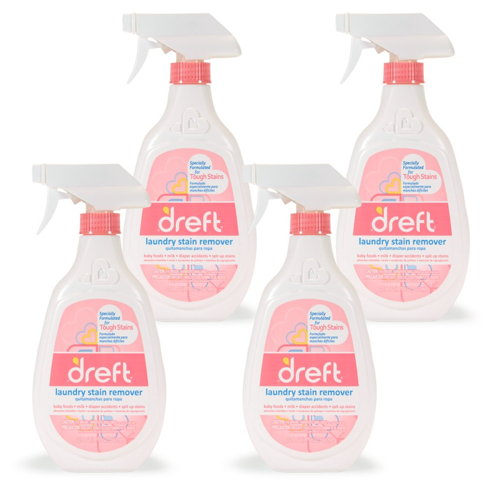 Dreft Baby Laundry Instant Stain Remover Spray for Clothes, 22 Fluid Ounce (Pack of
