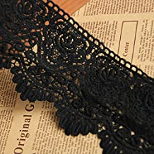 Black 3 Yards 3 1/8 Inches Wide Grace Venise Lace Dress Edge Trim Fabric Ribbon Wedding Bridal Veils Craft Accesory