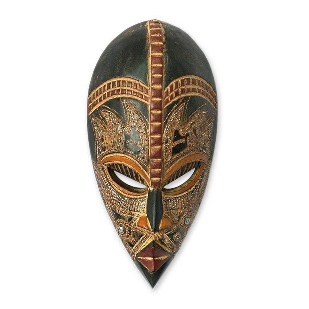 NOVICA 179924'' My Beautiful Lover Nigerian Wood Mask by NOVICA