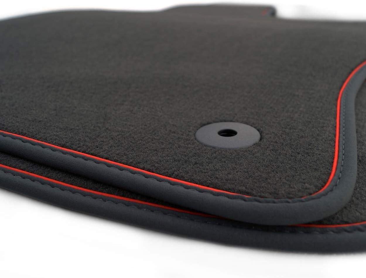 Kh Teile Fußmatten Velours Passend Für A3 S3 Rs3 8v Sportback Premium Qualität Autoteppiche Schwarz 2 Teilig Vorn Zierband Rot Auto