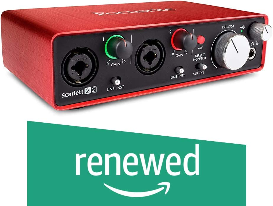 Focusrite Scarlett 2i2 USB Audio Interface with Pro ToolsFirst 2nd Gen