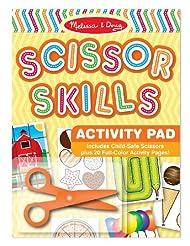Melissa & Doug Scissor Skills Activity Book With Pair of Chil...