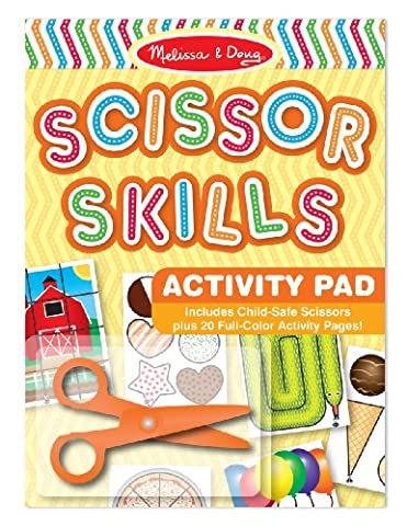 Melissa & Doug Scissor Skills Activity Book With Pair of Child-Safe Scissors (20 Pages) - Toys and Games