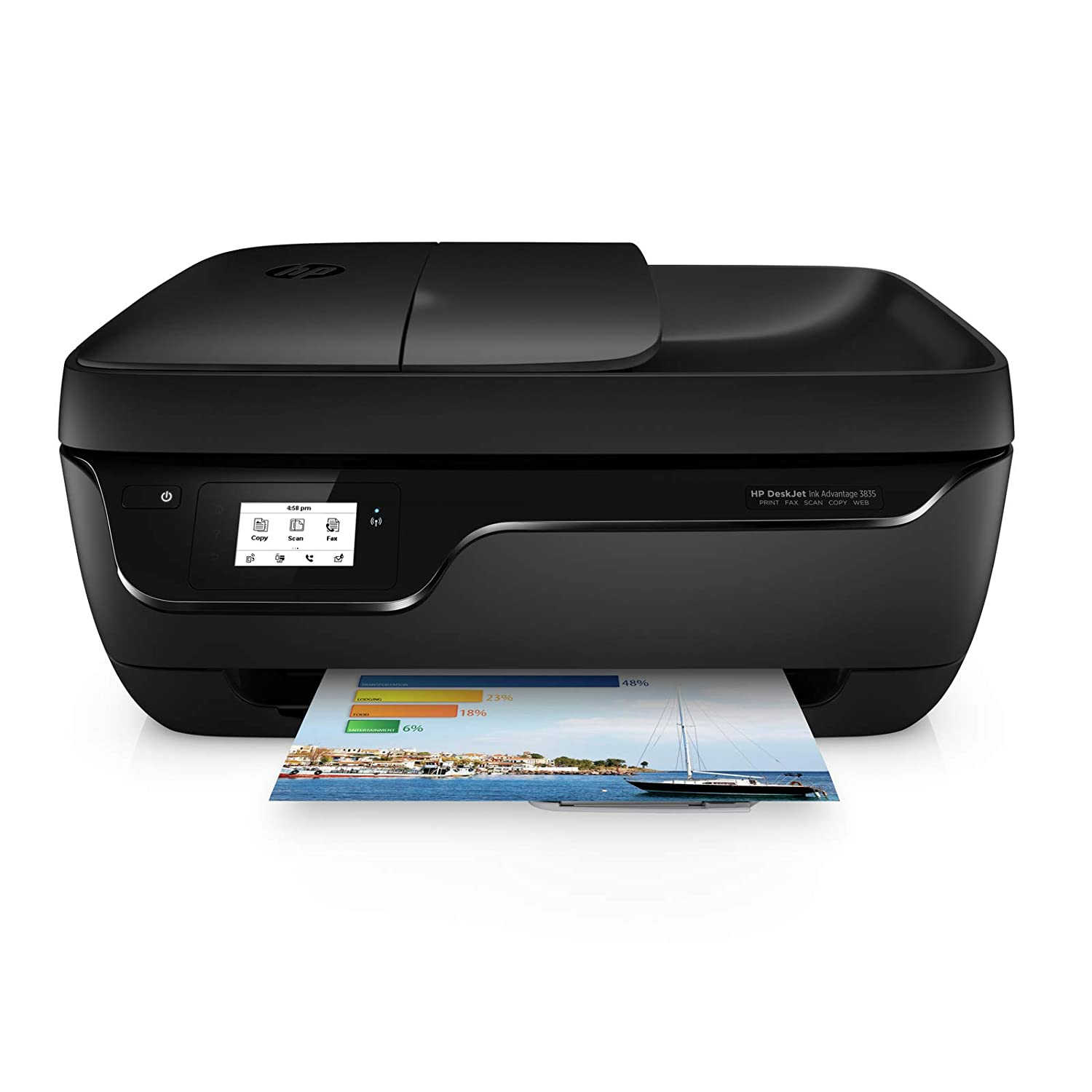 Hp Deskjet 3835 All In One Ink Advantage Wireless Colour Printer Should It Be Of Interest An Electronic Copy This Manual Is Black Computers Accessories