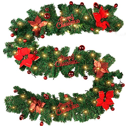 Christmas Garland Coxeer Artificial Operated