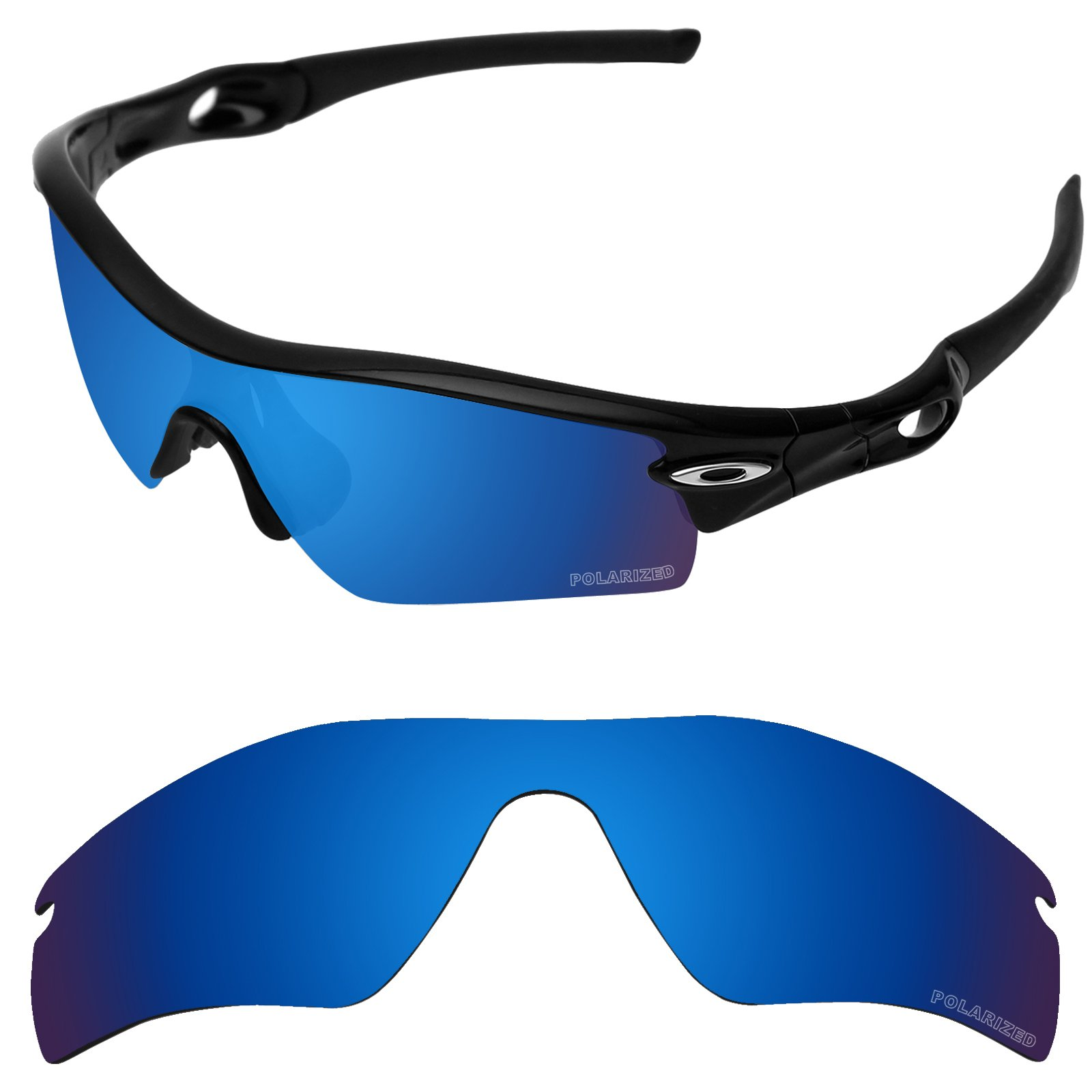 Tintart Performance Replacement Lenses for Oakley Radar Path Sunglass Polarized Etched-Sapphire Blue by Tintart