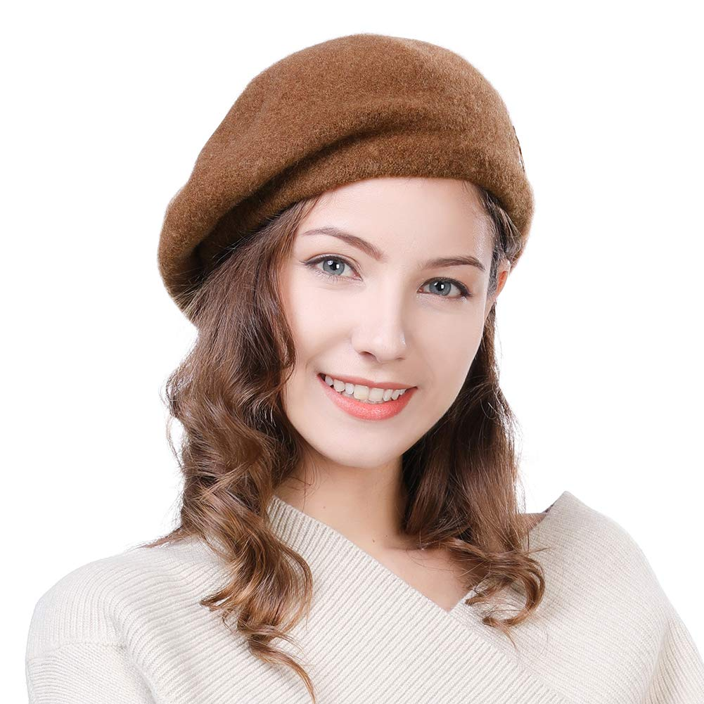 Artist Beret French Wool Felt Barrett Hat Mime Director Womens Winter Cap Ladies Paris Fashion
