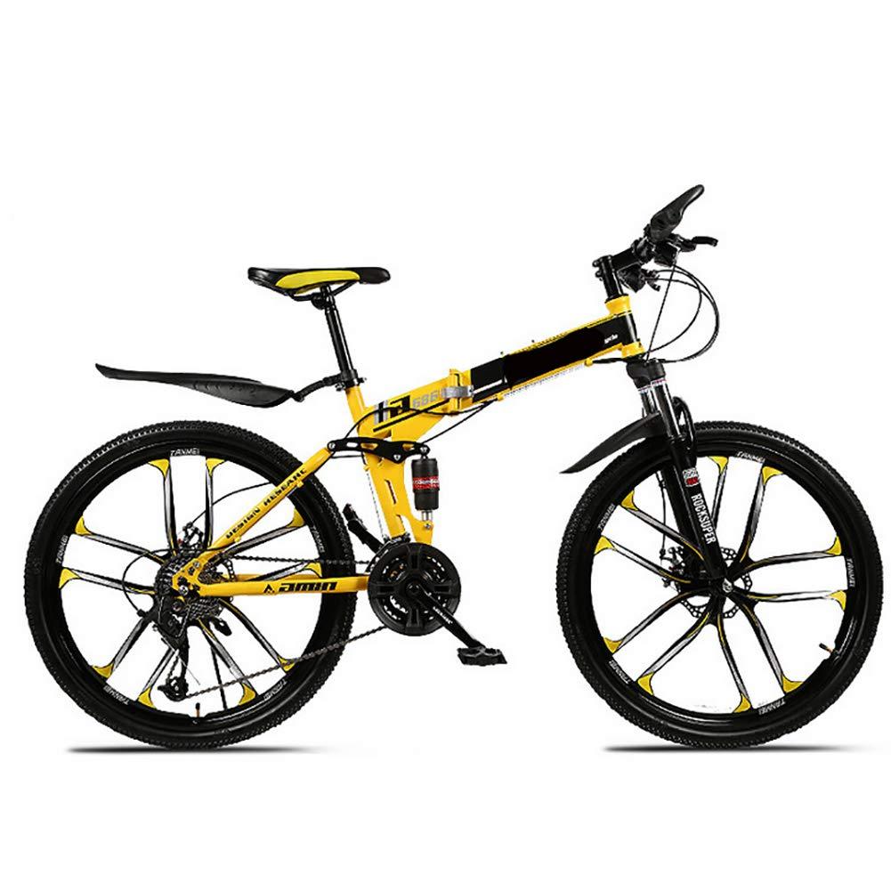 calidad auténtica AWAKMER Ligero Aluminio Aluminio Aluminio Cuadro 21 24 27 30 velocidades Bicicleta Plegable 27 Pulgadas  tiempo libre
