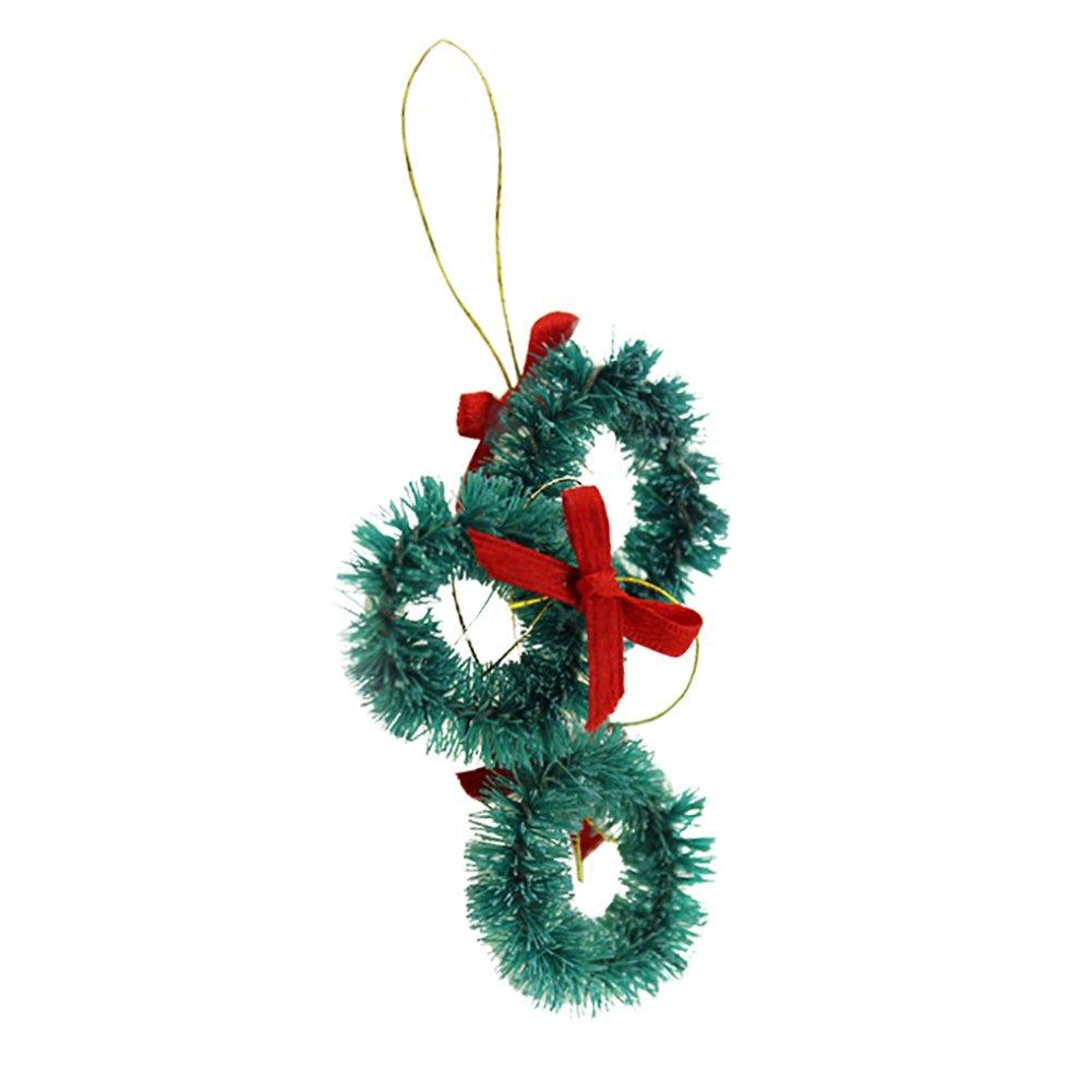 angel3292 3Pcs 1/12 Scale Miniature Christmas Xmas Tree Ornament Decoration Toys