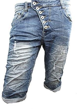 Place du Jour Women's Capri Shorts - Blue - XL