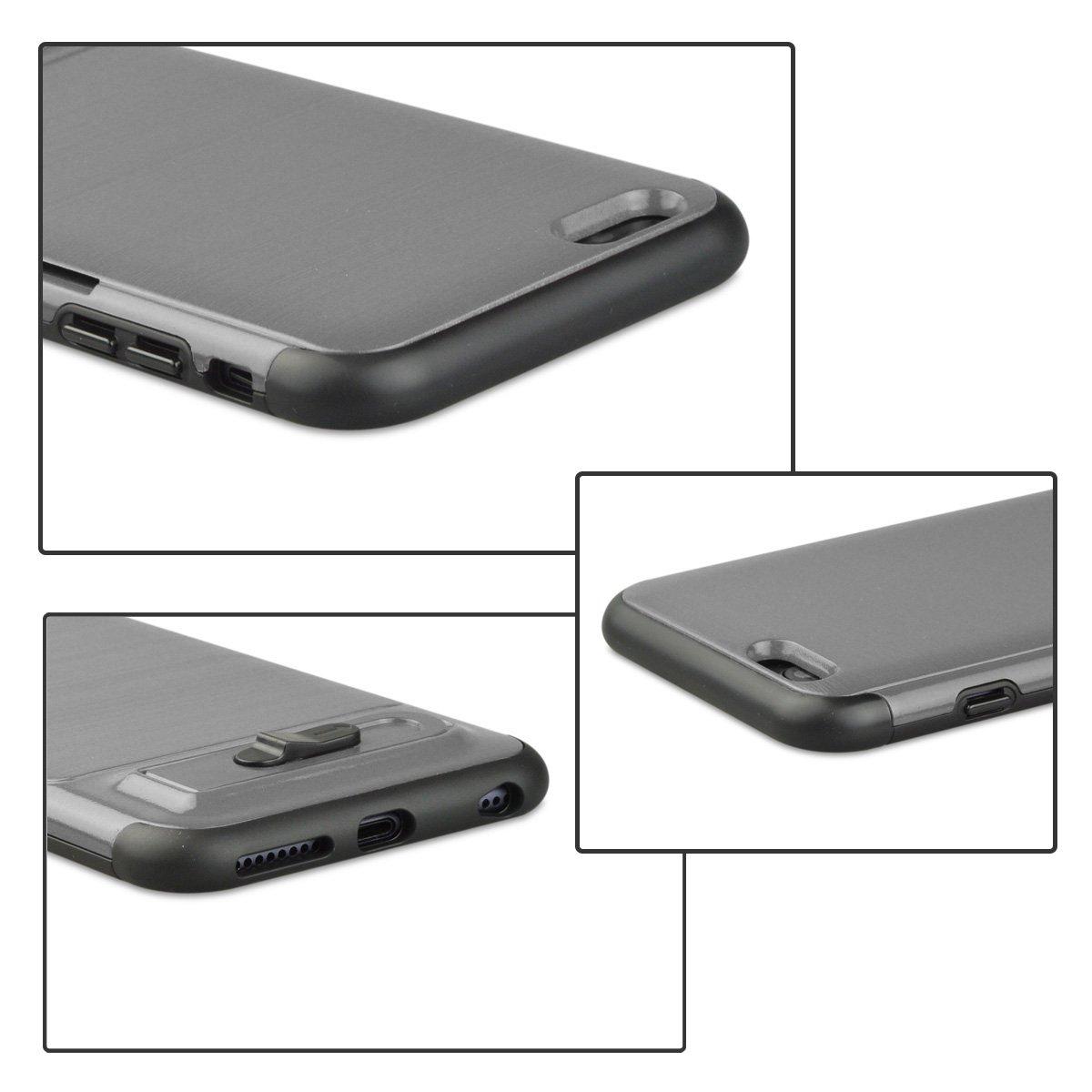 Compatible iPhone6Plus 6s Plus Plus Case Anti-Scratch Bumper Tripod Card Cover Protective Case for iPhone6 6s