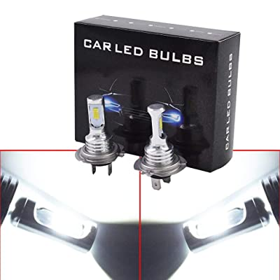 2 x H7 LED Headlight Bulbs 35W Extremely Bright 4000LM 6000K White Kit High Low Beam: Automotive [5Bkhe0808012]