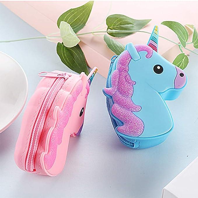 Amazon.com: Monedero de unicornio – Lindo llavero de ...