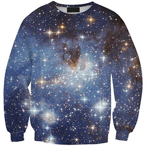 YICHUN camiseta de las mujeres Ocio Tops niñas fina Sudaderas impresión Pullovers Jersey Casual blusa Galaxy 8#