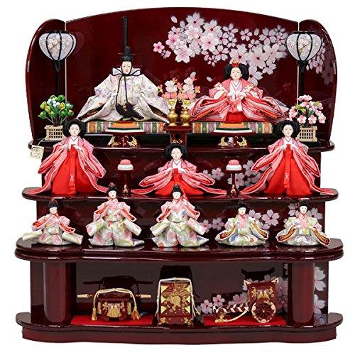 雛人形 10人飾り 3段飾り変わり雛ひな人形 お雛様 初節句飾り お祝い   B0781835WB