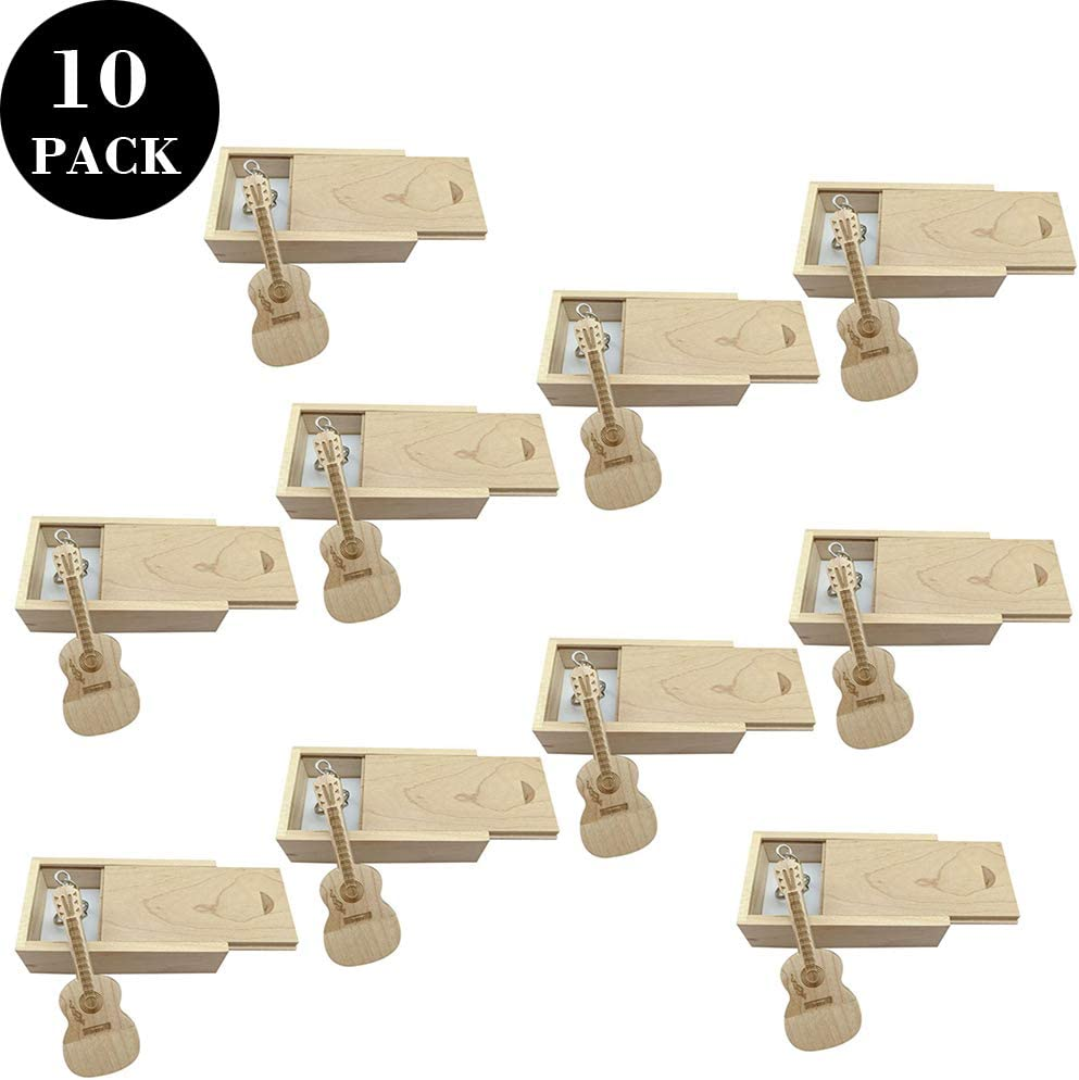 10 PCS Guitar Shaped Wood Memory Stick USB Flash Drive in Wood Box (3.0/64GB, Maple) 614sU%2BuOJgL