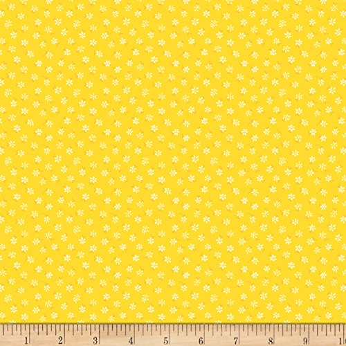 Wilmington Prints Wilmington Amorette Tiny Floral Fabric by the Yard, Yellow ()