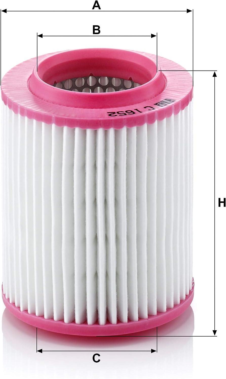 Original Mann Filter Luftfilter C 1652 Für Pkw Auto