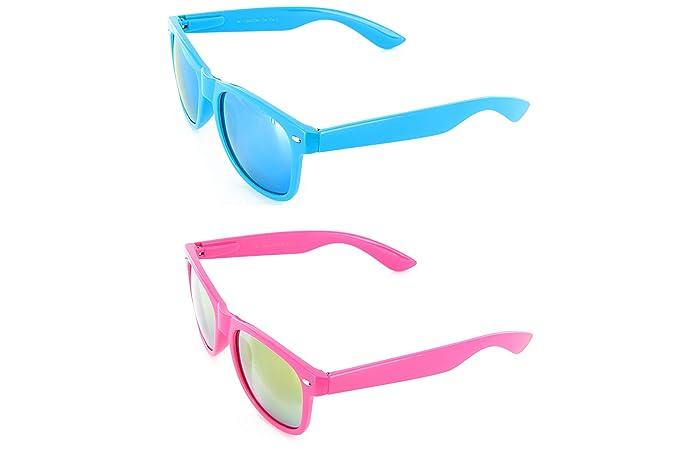 Amazon.com: Moda anteojos Estilo Multicolor anteojos de sol ...