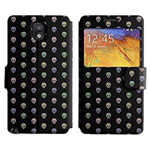 AADes Scratchproof PU Leather Flip Stand Case Samsung Galaxy Note 3 III ( Assorted Skull )