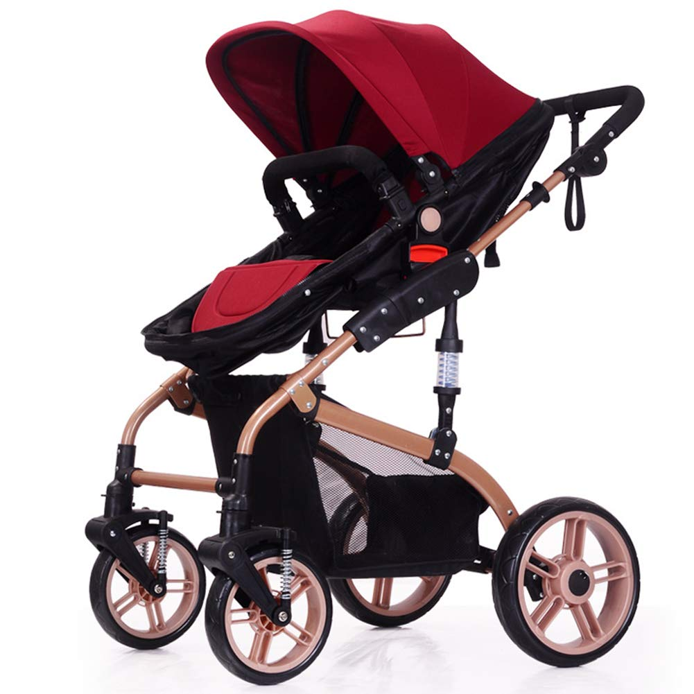 Baby Pram, High Landscape Baby Stroller can sit and Lie Down Two-Way Toddler Pushchair for Babies 0-3 Years Old by WYX-Stroller (Image #6)