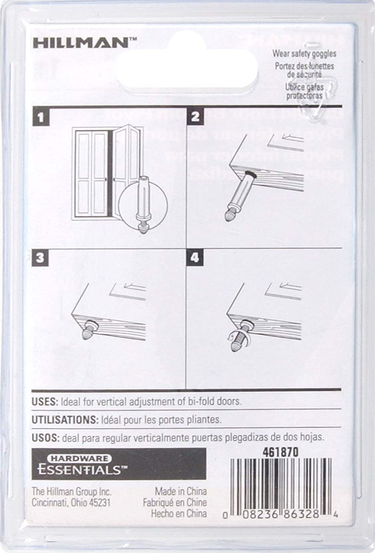 Hillman Hardware Essentials 851222 Bi-Fold Door Bottom Pivot The Hillman Group