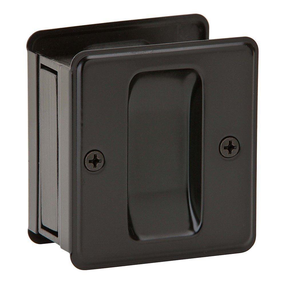 Matte Black Pocket Sliding Privacy Door Hardware Handle Locking Pull