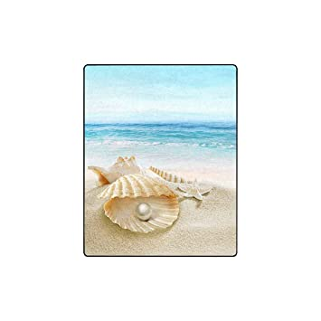 Amazon.com: INTERESTPRINT Sea Shell with Pearl and Starfish ...