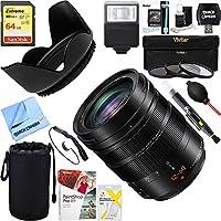 Panasonic LUMIX G LEICA DG VARIO-ELMARIT 12-60mm F2.8-4.0 ASPH Mirrorless Lens + 64GB Ultimate Filter & Flash Photography Bundle