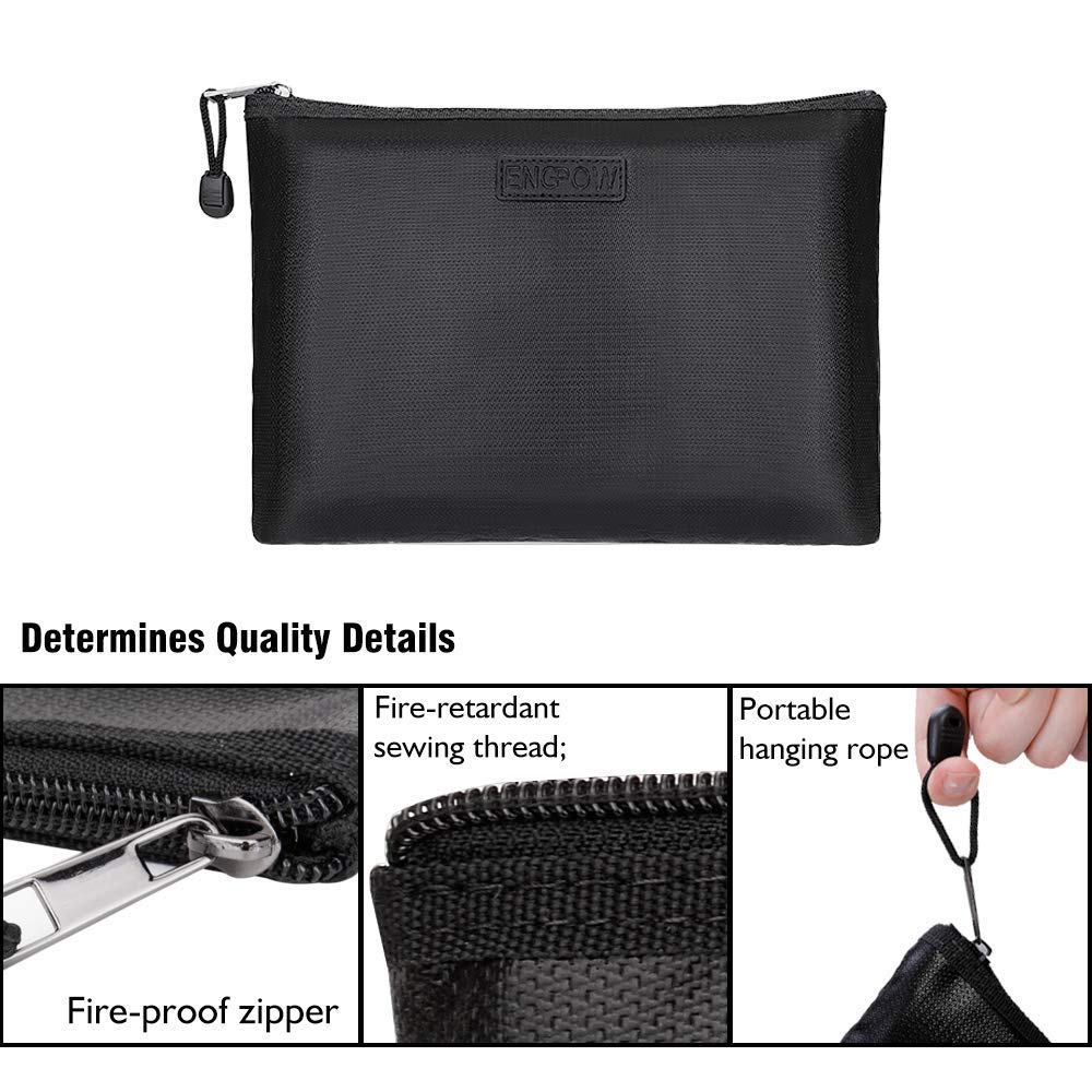 Fireproof File Bag with Zipper Pulls A4 Size Paper 13.5\