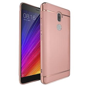Xiaomi 5s Plus Funda, WindCase Anti-Arañazos Case Enchapado de 3 Piezas Ultrafina Plástico Duro Carcasa para Xiaomi Mi 5s Plus Rose Oro