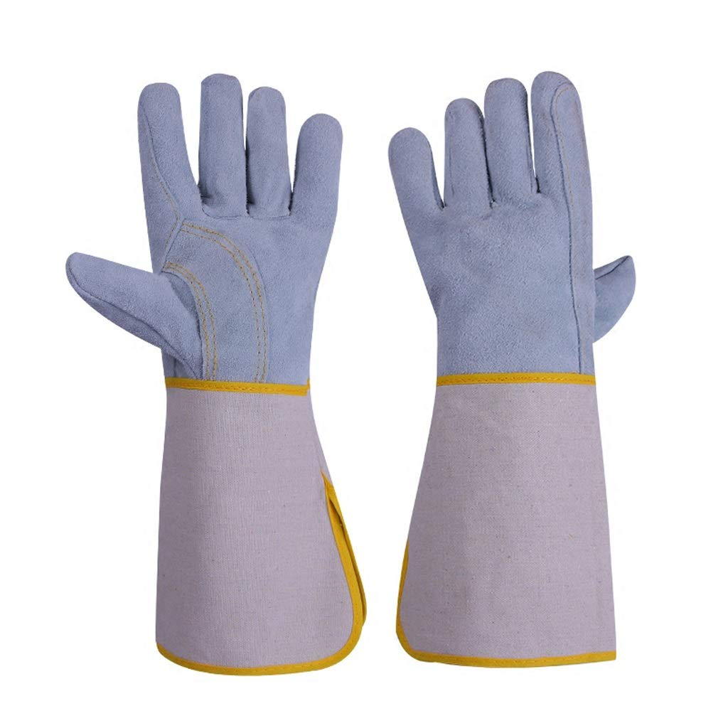 Yxsd Leather Welding Gloves Heat Resistance Anti-Scratch Cut Resistant/Perfect Choice of Blocking Heat and Protect Your Hands (15 Inch/37 cm)