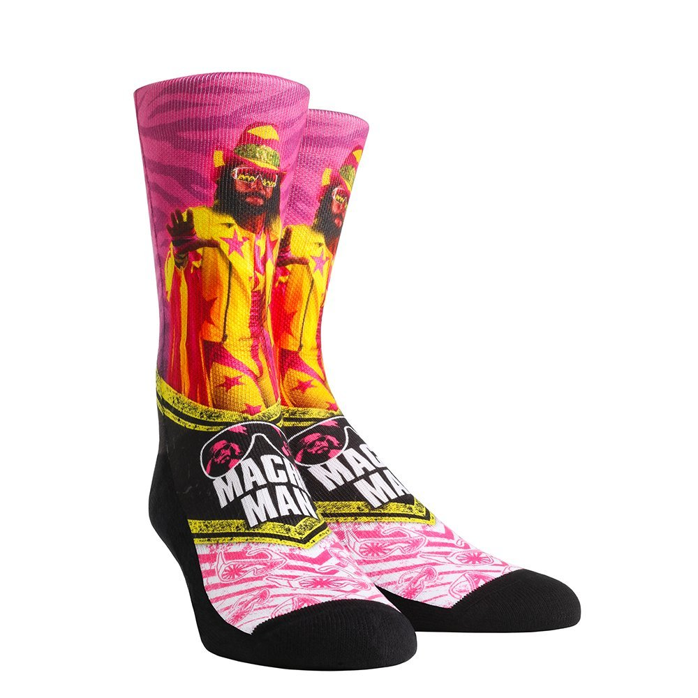 Rock 'Em WWE Walkout Socks (L/XL, Macho Man Randy Savage) by Rock 'Em Socks
