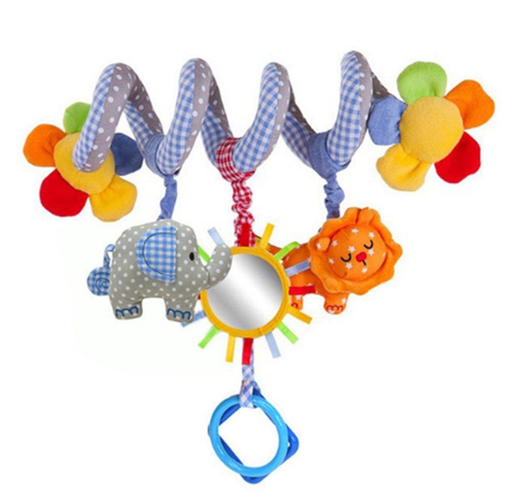 Lomire Espiral de actividades Cama y Cochecito de Juguete Infantil con Dispositivo BB Colgando Cuna Sonajero Bebé Kids Toys Juguetes BDM