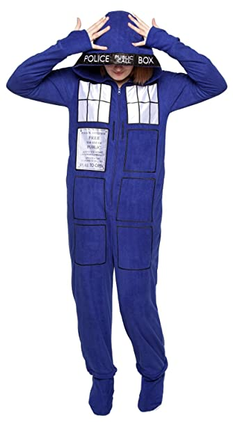 Doctor Who  Adult Tardis Pajamas Large  Amazon.ca  Clothing ... 600b3b70a