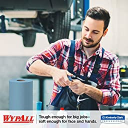 Kimberly-Clark Wypall X60 Reinforced Disposable Wiper, 13-25/64\