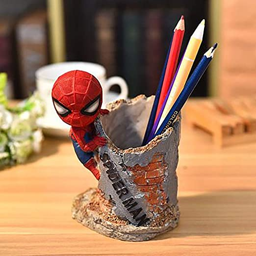 JTWMY Avengers Spiderman Cartoon Anime Pen Holder Desktop ...