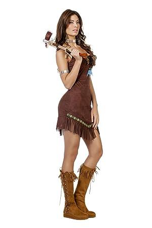 The Fantasy Tailors Indianer Kostum Damen Indianer Kleid Mit Fransen