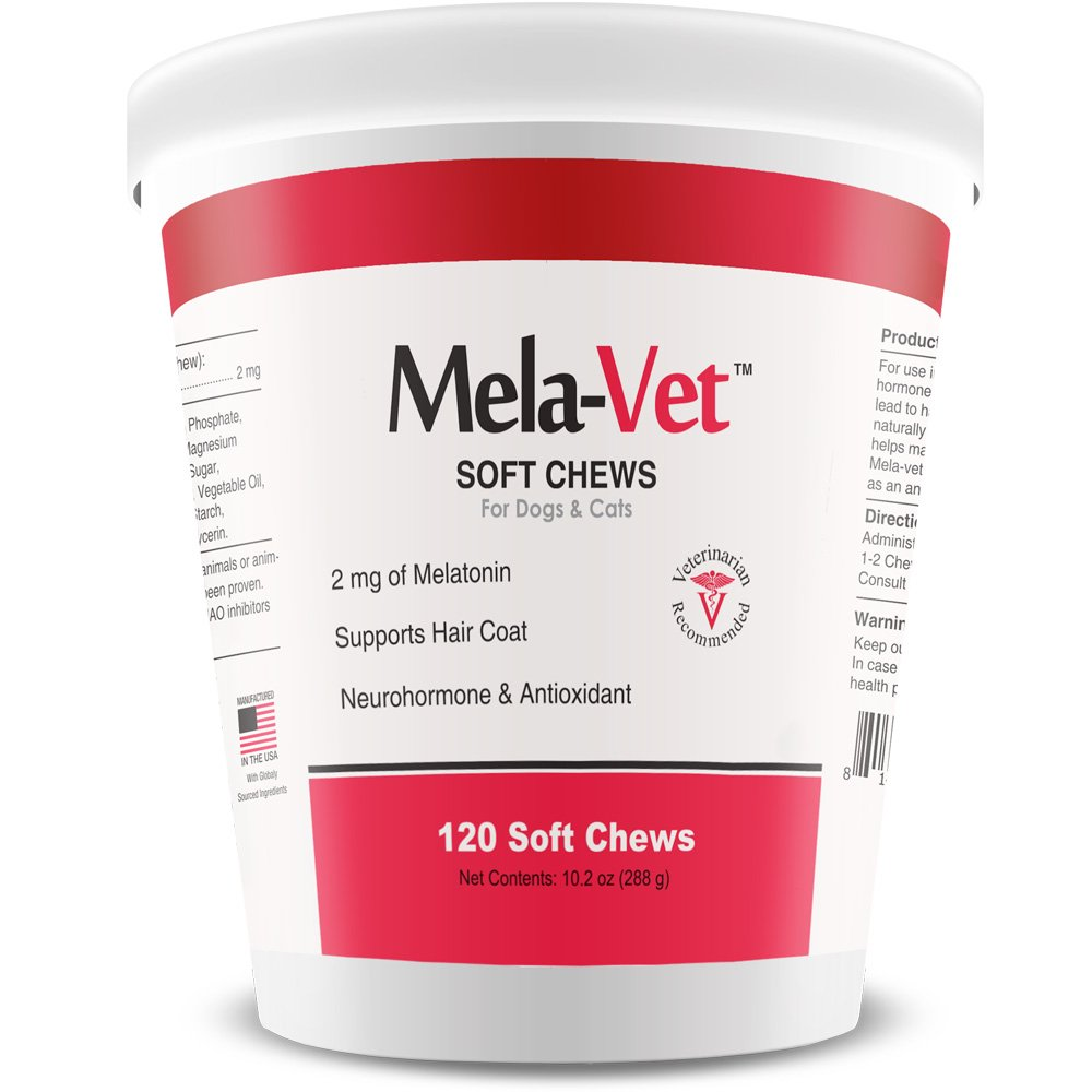Healthy Pets Mela-Vet Melatonin Soft Chews for Dogs & Cats, 120 count