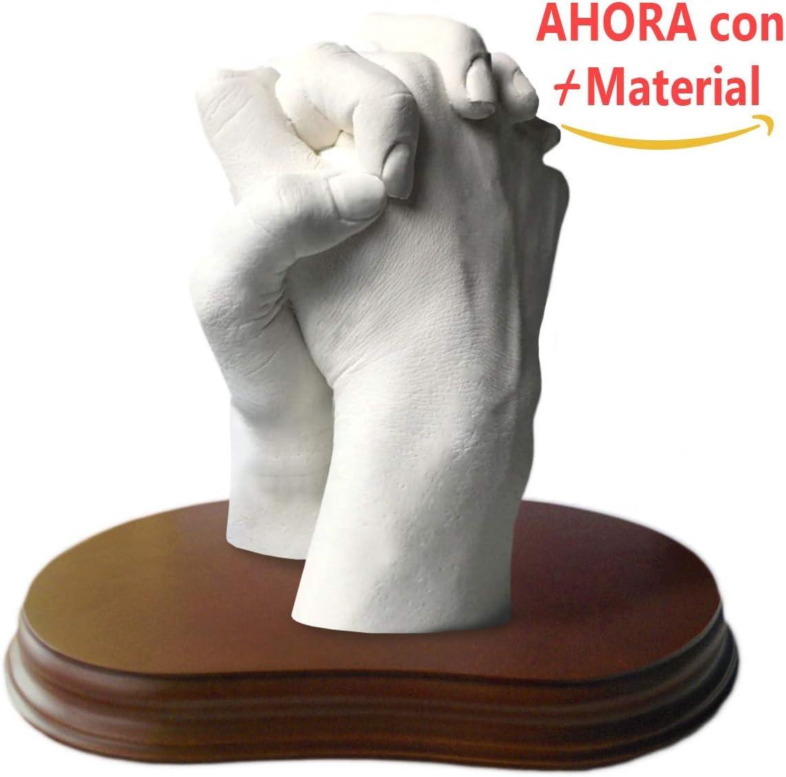 Haz una Escultura de manos con tu pareja, Manos Entrelazadas, Escultura realista, Peana Incluida