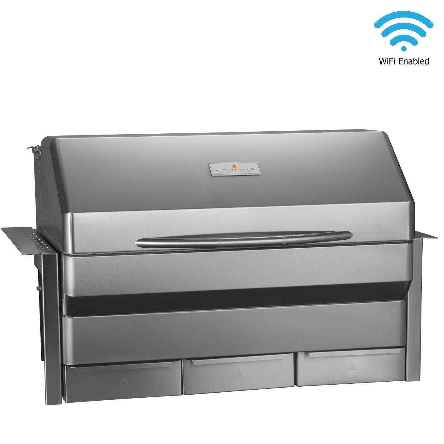 Memphis Grills Elite Wood Fire Pellet Smoker Grill Wi-Fi VGB0002S , Built-in, 304 Stainless Steel Alloy