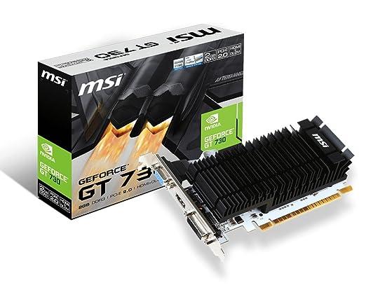 11 opinioni per Msi VGA GeForce N730K-2GD3H/LP Scheda Grafica, Nero