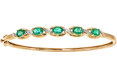set hover to in zoom ruby emerald bangles gold pair of