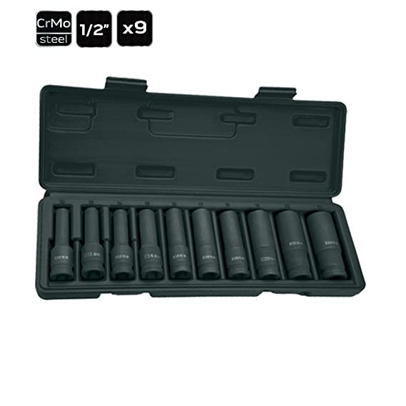 """9 tlg Steckschlüssel Set CrMO Innensechsrund schlagnuss Stecknuss 1//2/"""" 10-24mm"""